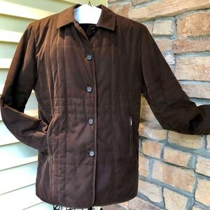 BURBERRY CHECK PLAID DIAMOND QUILTED COAT BROWN 6
